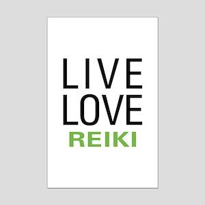 Live Love Reiki Mini Poster Print
