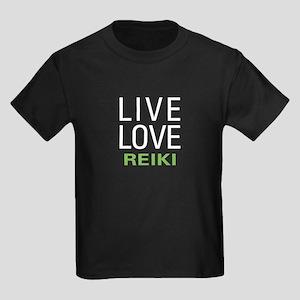 Live Love Reiki Kids Dark T-Shirt