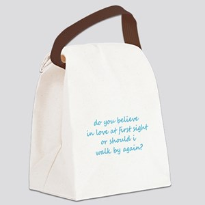 Love Canvas Lunch Bag