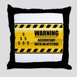Warning Accountant Throw Pillow