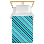 Striped_tie_001 Twin Duvet