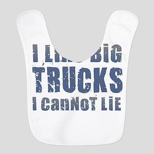 I Like Big Trucks Polyester Baby Bib