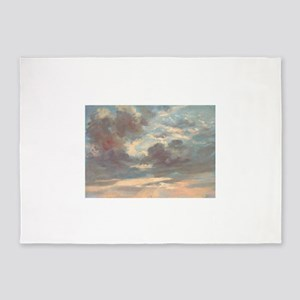 A Cloud Study Stormy Sunset by John 5'x7'Area Rug
