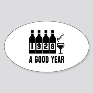 1928 A Good Year, Cheers Sticker (Oval)
