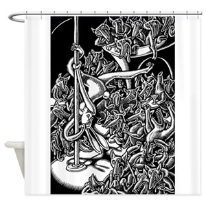 Sex Bunny Shower Curtains