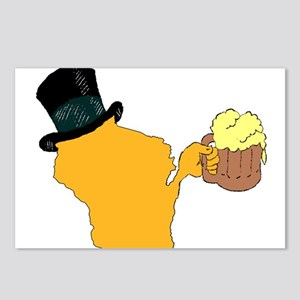 Wisconsin Beer & Top Hat- Postcards (Package of 8)