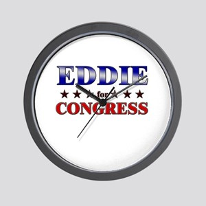 EDDIE for congress Wall Clock