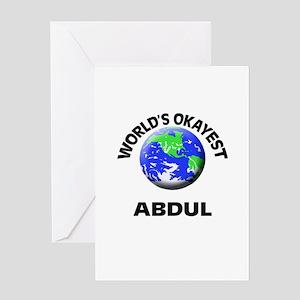 World's Okayest Abdul Greeting Cards