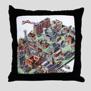 Computer Landscape Throw Pillow
