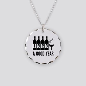 1923 A Good Year, Cheers Necklace Circle Charm