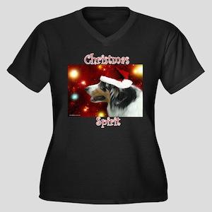 Aussie Spirit Women's Plus Size V-Neck Dark T-Shir