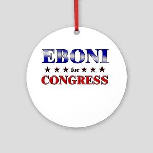 EBONI for congress Ornament (Round)