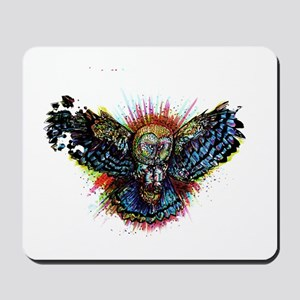 Color Barn Owl Mousepad