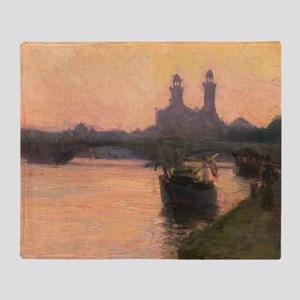 The Seine: painting by Henry Ossawa Tanner Throw B
