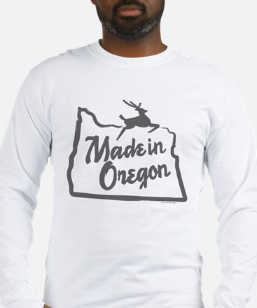 MADE-IN-OREGONgrey Long Sleeve T-Shirt