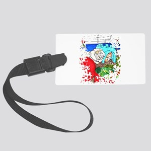 Guinea Pigs in a cage Large Luggage Tag