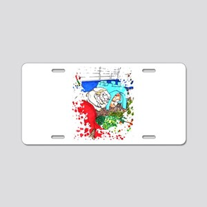 Guinea Pigs in a cage Aluminum License Plate