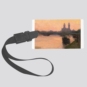 The Seine: Painting By Henry Large Luggage Tag