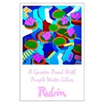 Large Poster<br>Purple Water Lilies