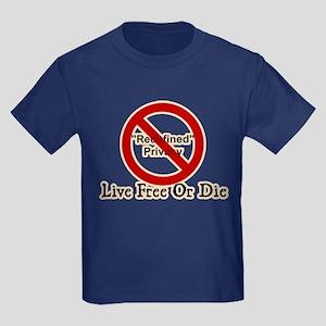 Live Free Or Die 2 Kids Dark T-Shirt