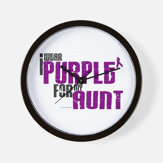 I Wear Purple For My Aunt 6 (PC) Wall Clock