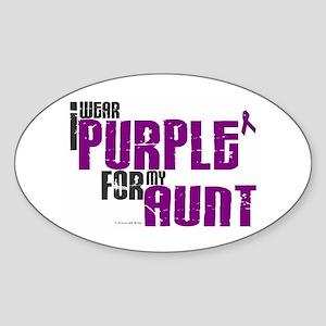 I Wear Purple For My Aunt 6 (PC) Oval Sticker