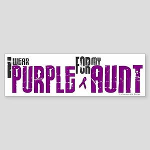 I Wear Purple For My Aunt 6 (PC) Bumper Sticker