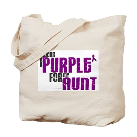 I Wear Purple For My Aunt 6 (PC) Tote Bag