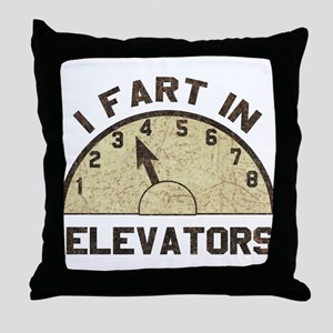 I Fart In Elevators Throw Pillow