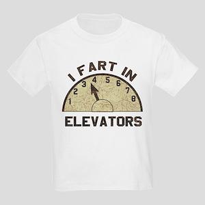 I Fart In Elevators Kids Light T-Shirt
