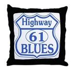 Highway 61 Blues Throw Pillow
