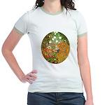 Klimt's Flower Garden Jr. Ringer T-Shirt