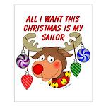 Christmas I want my Sailor Small Poster