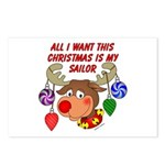 Christmas I want my Sailor Postcards (Package of
