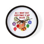 Christmas I want my Sailor Wall Clock