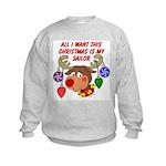 Christmas I want my Sailor Kids Sweatshirt