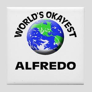 World's Okayest Alfredo Tile Coaster
