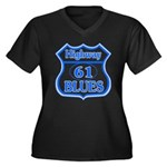 Highway 61 Blues Women's Plus Size V-Neck Dark T-S
