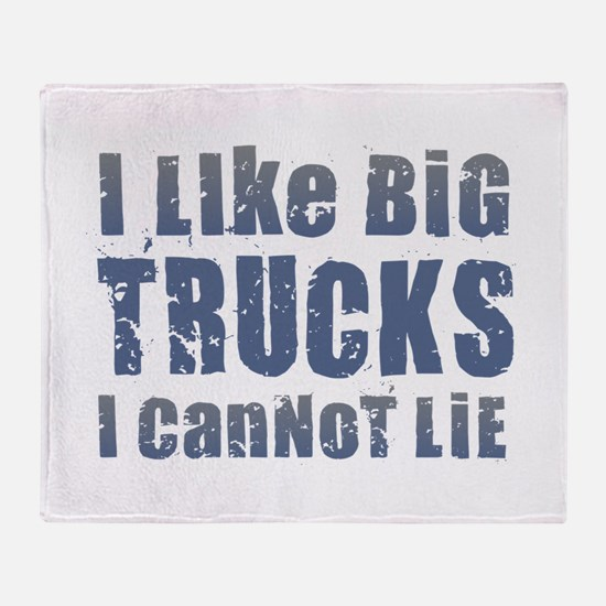 I Like Big Trucks Throw Blanket