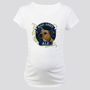 Bad Abby Pit Bull Ale Maternity T-Shirt