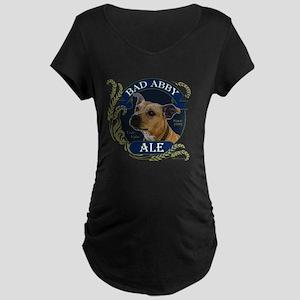 Bad Abby Pit Bull Ale Maternity Dark T-Shirt