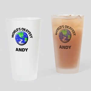 World's Okayest Andy Drinking Glass