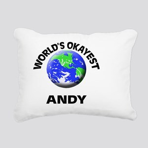 World's Okayest Andy Rectangular Canvas Pillow