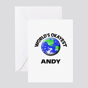 World's Okayest Andy Greeting Cards