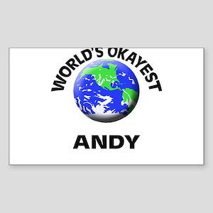 World's Okayest Andy Sticker