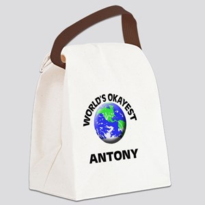 World's Okayest Antony Canvas Lunch Bag