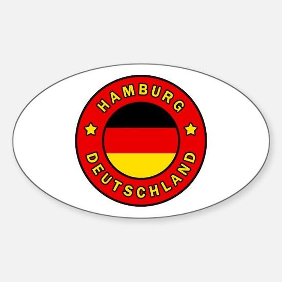 Cool Hamburg state flag Sticker (Oval)