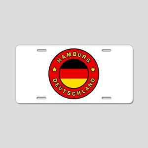 Hamburg Germany Aluminum License Plate