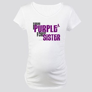 I Wear Purple For My Sister 6 (PC) Maternity T-Shi
