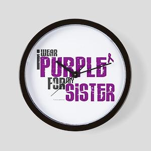 I Wear Purple For My Sister 6 (PC) Wall Clock